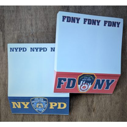 NYPD Memo Pad & FDNY Memo Pad