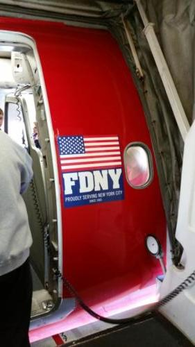 FDNY banner on Southwest Airlines